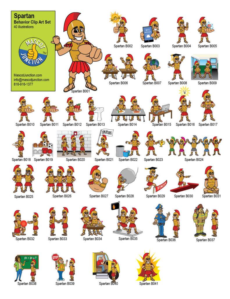 Spartan Mascot Clip Art