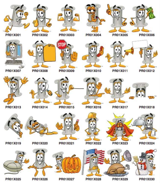 Pillars Character Mascot