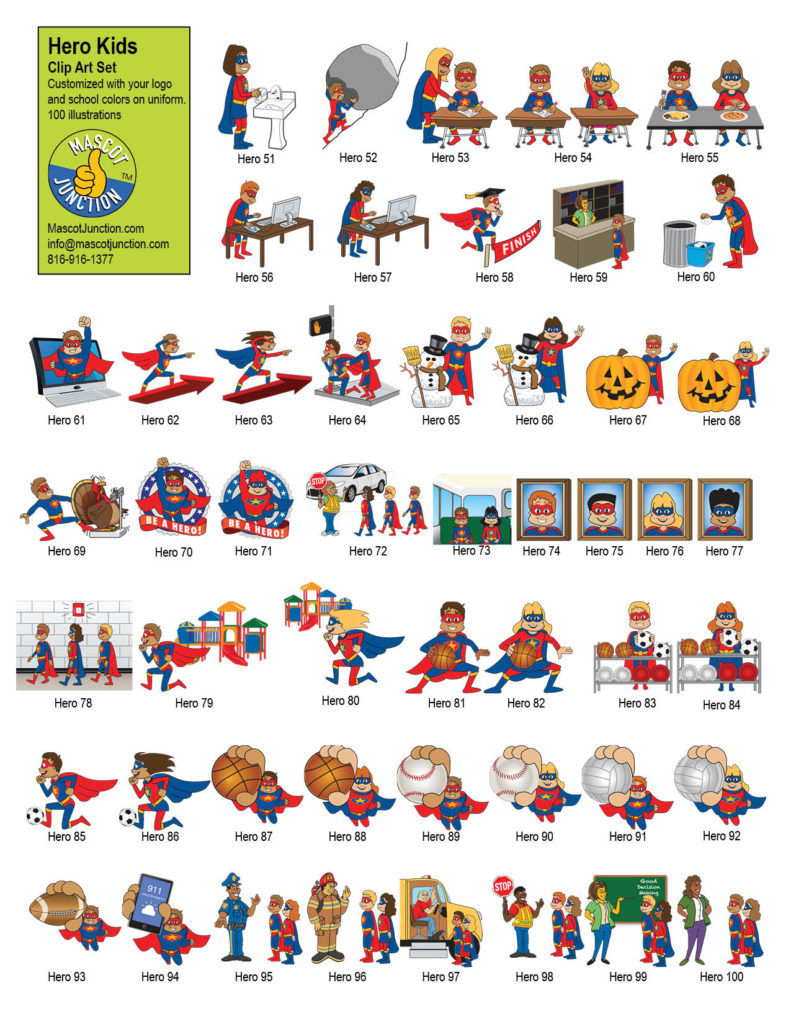 Super Hero Clip Art Schools