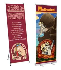 Banner Stands Retractable Portable