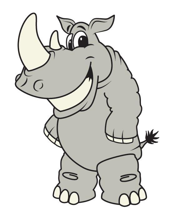 Rhino clip art school logo