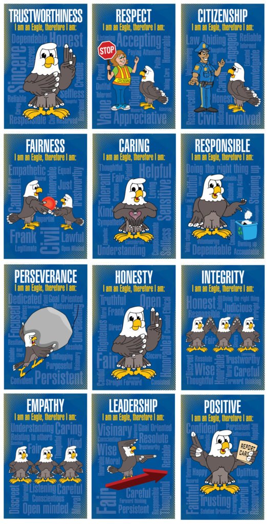 Character Education Posters Eagle Mascot