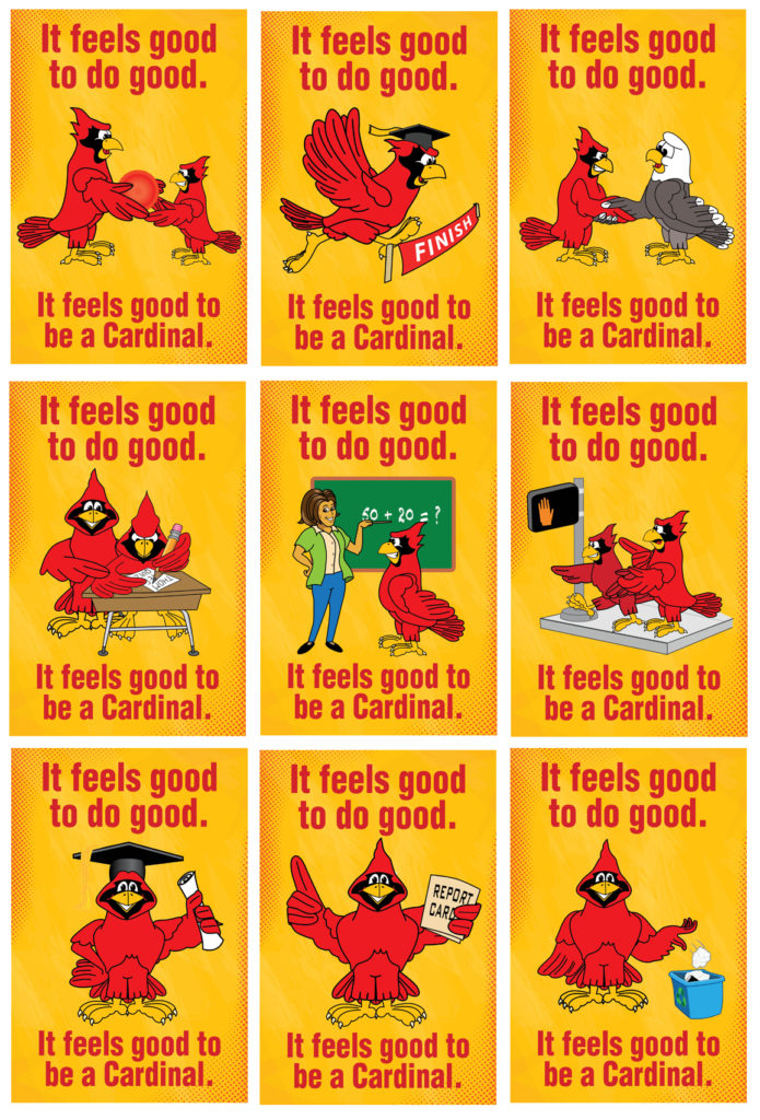 Feel Good Posters Cardinal