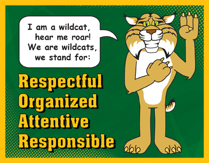 Pledge Poster Wildcat Mascot