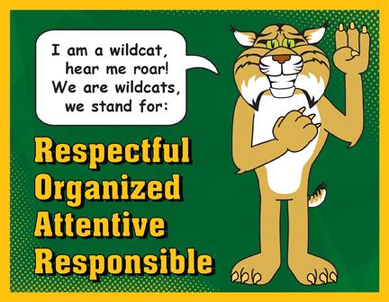 Pledge Poster Wildcat Mascot