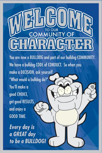 Welcome Poster Character Bulldog