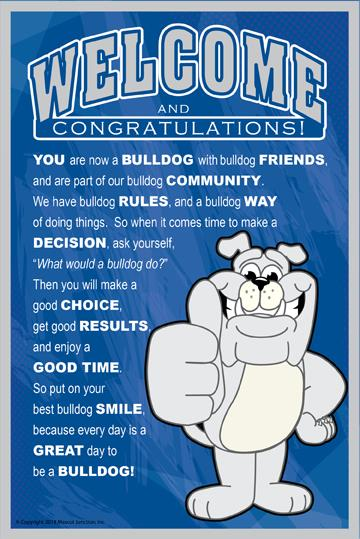 Welcome Poster PBIS Bulldog