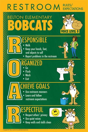 Bobcat Rules Poster