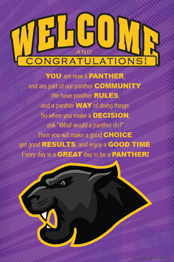 Panther Welcome Poster