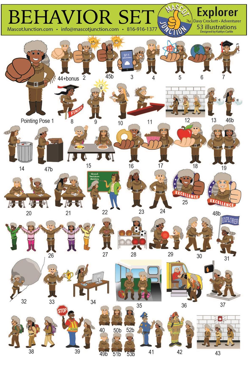 Explorer, pioneer, trailblazer mascot clip art