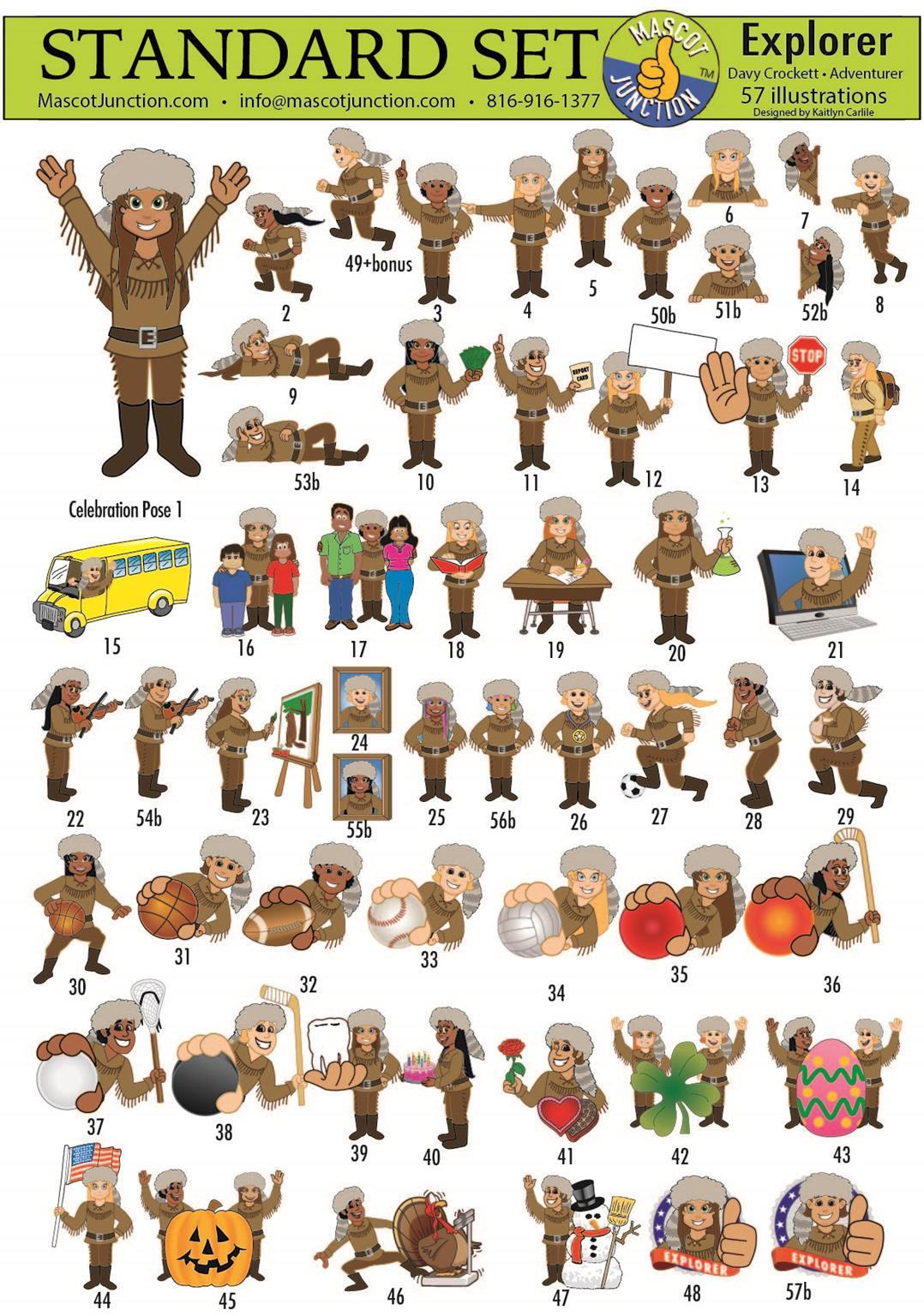 Explorer Pioneer Trailblazer mascot clip art