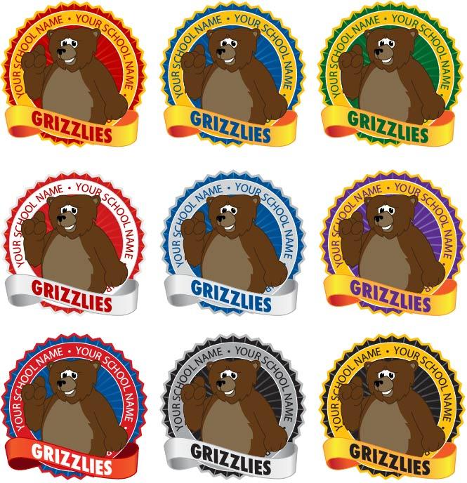Grizzly Bear Mascot Logo