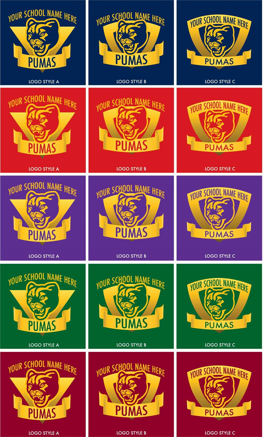 Puma School Mascot Logo