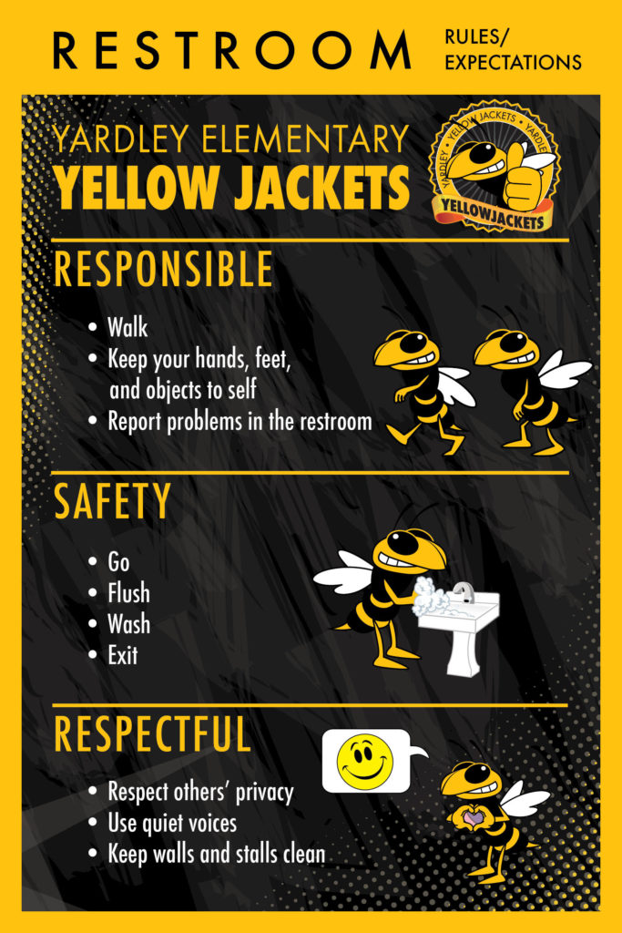Rules Posters for Yellow Jacket Mascots