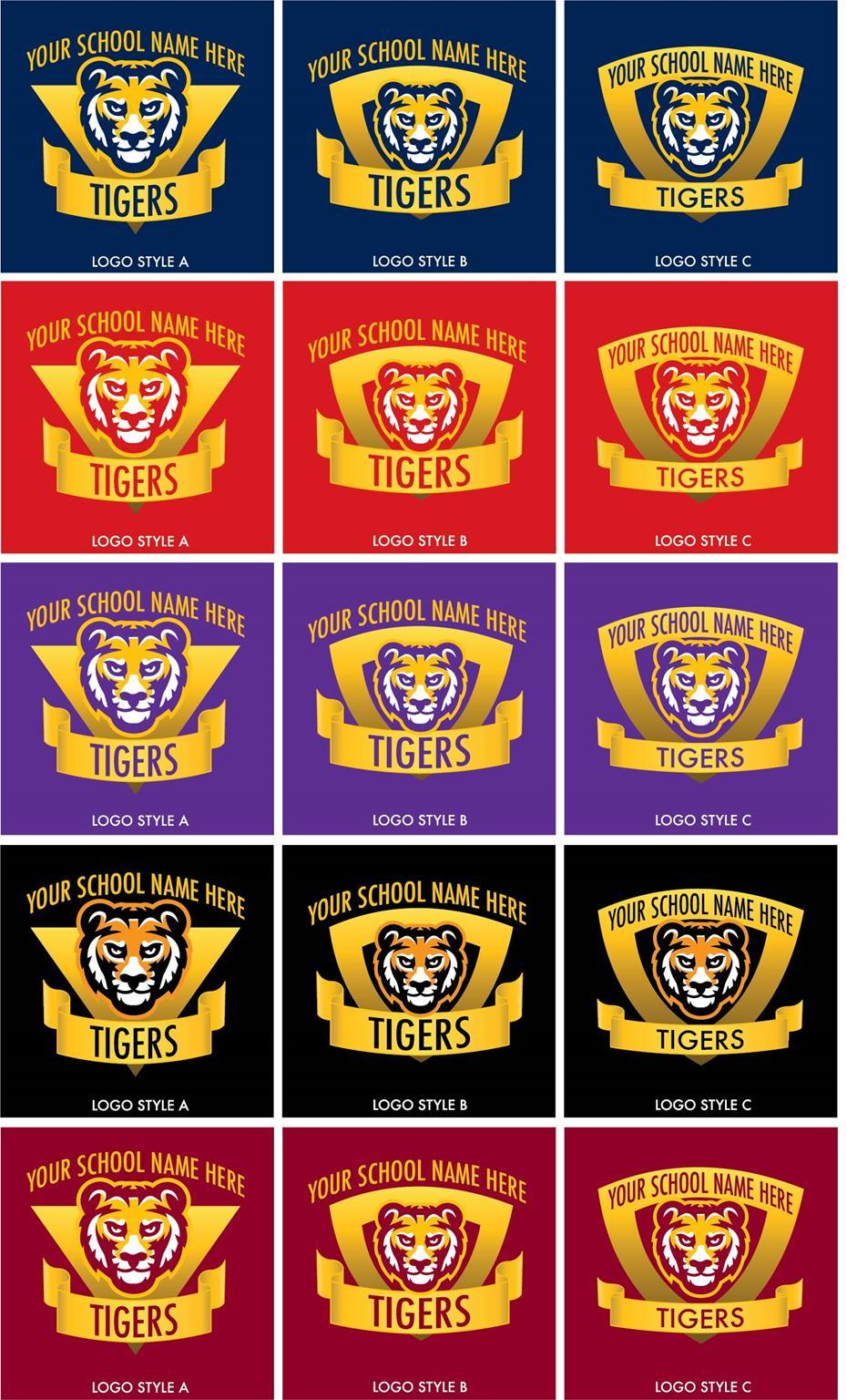 Tiger Logo School Mascot