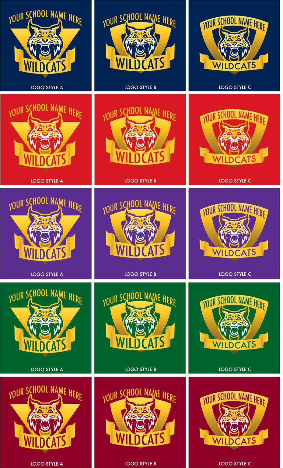 Wildcat Logo School Mascot Graphic