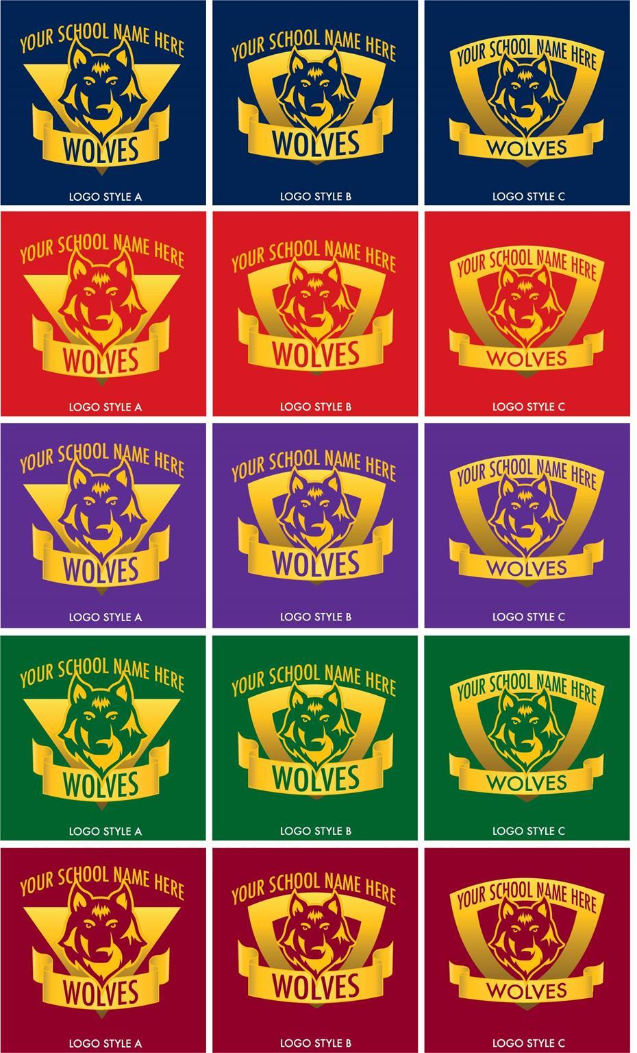 Wolf Mascot Logo School