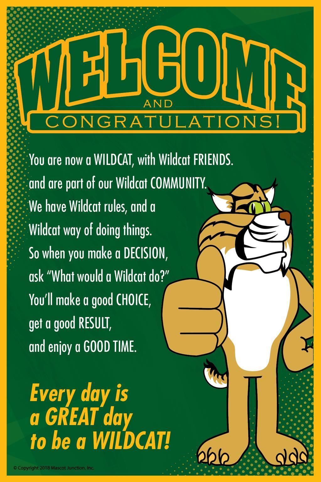 Wildcat Welcome PBIS Poster
