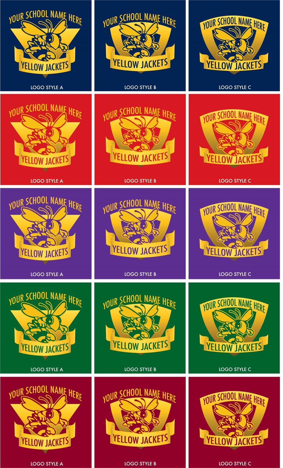 Yellow Jacket Mascot Logo School