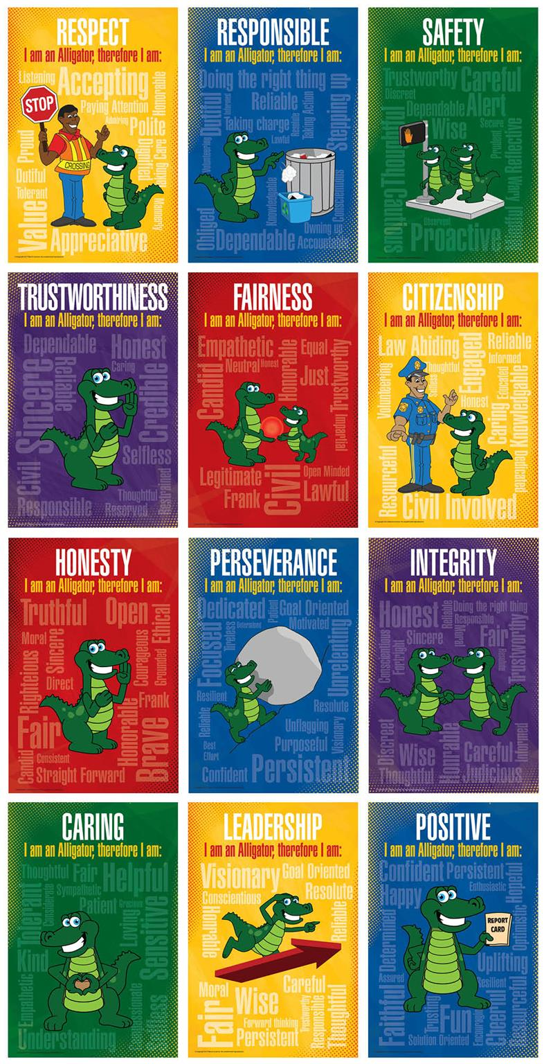 Alligator Word Cloud Posters