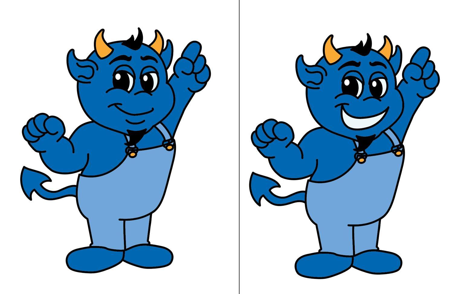 Blue Devil Logo Graphic