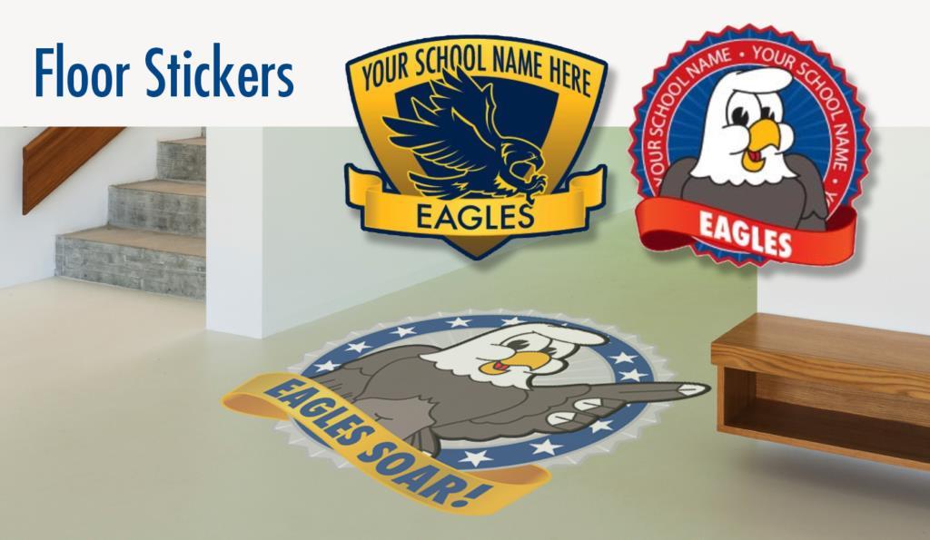 Floor Sticker Eagle Graphic Logo