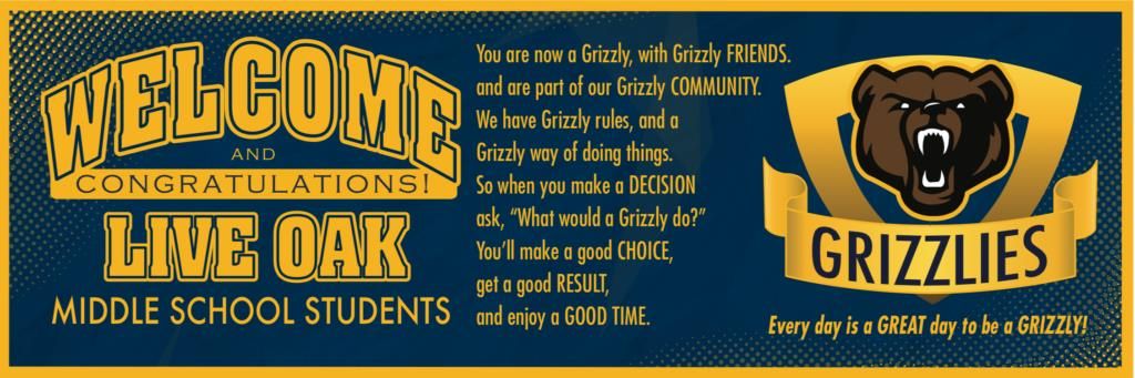 Grizzly Welcome Banner PBIS