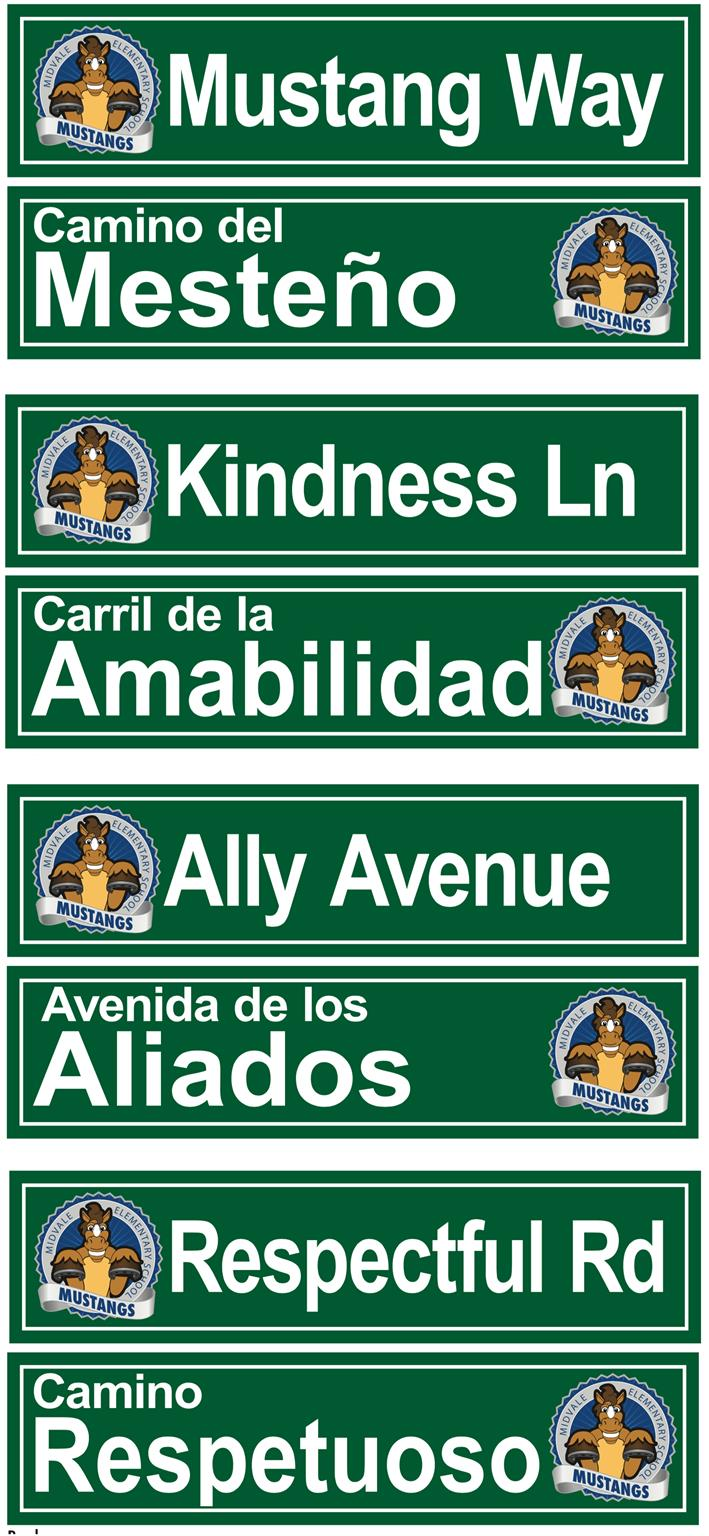 Hallway Street Signs Custom Graphics