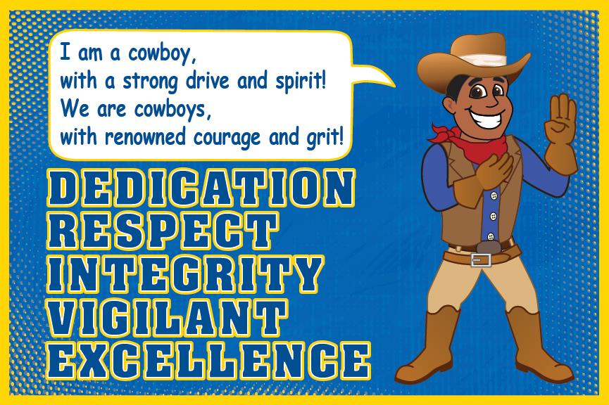 Cowboy Pledge Poster