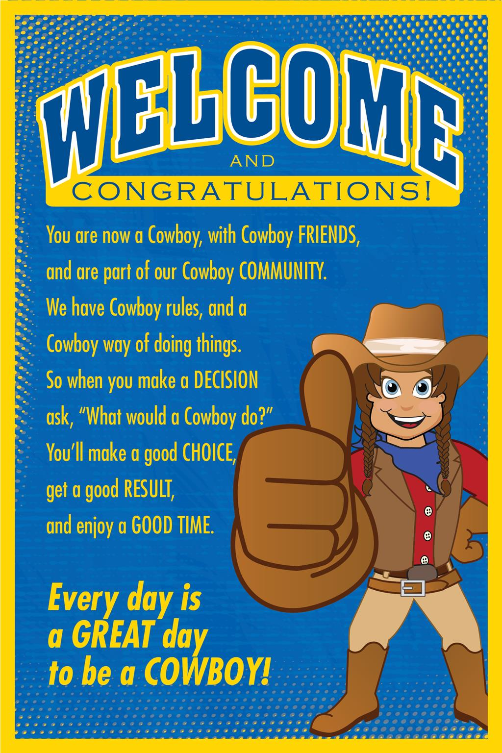 Welcome Poster Cowboy