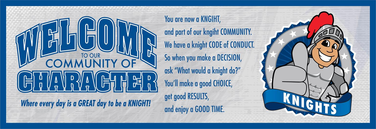 Welcome Banner Knights