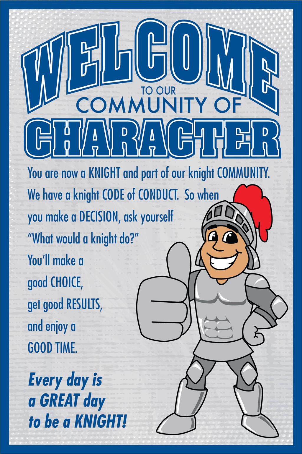 Welcome Poster Character Knight