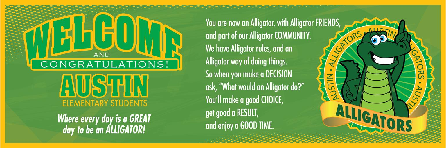 Alligator Welcome Banner