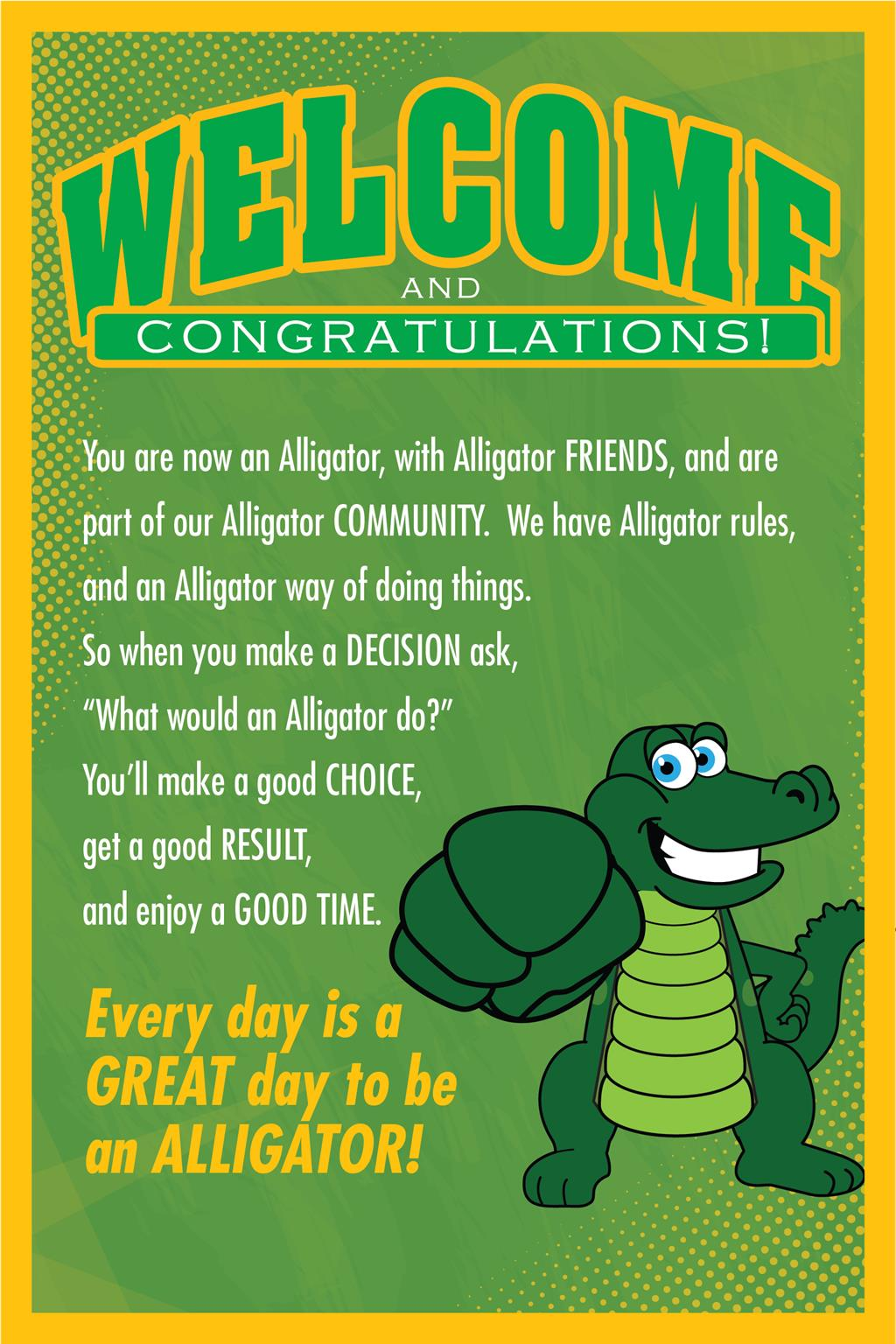 PBIS Poster Welcome Gators