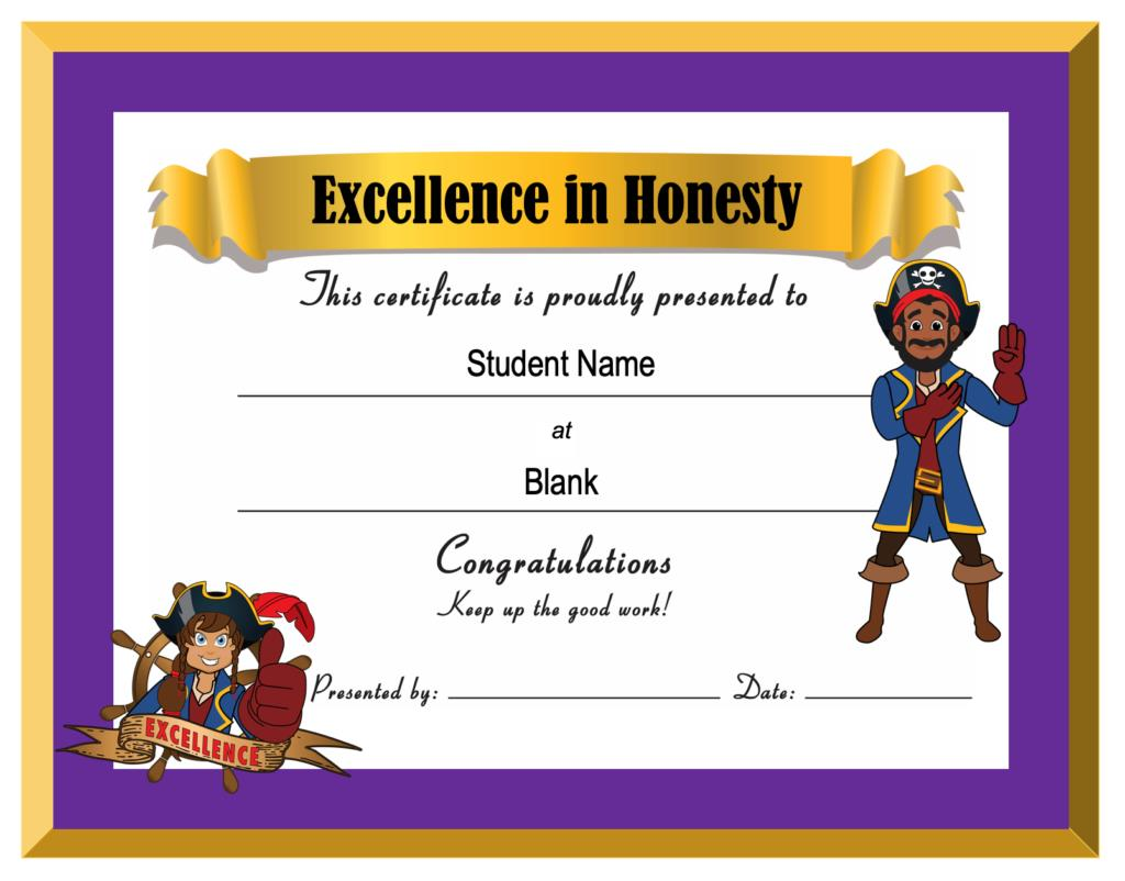 Award Certificate Pirate