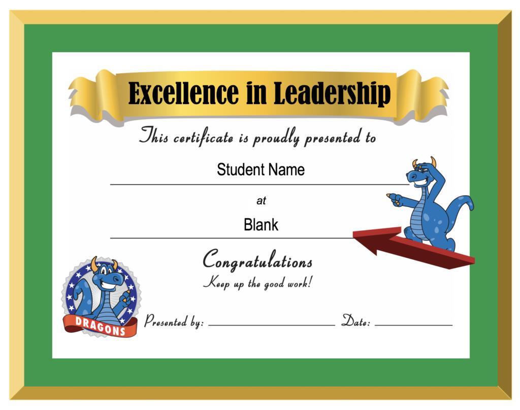 Award Certificate School PBIS
