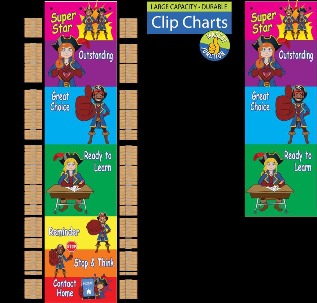 Clip Chart Pirate Mascot