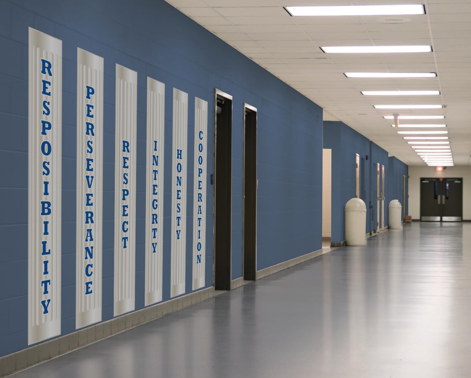 Column Pillar Wall Stickers 6ft