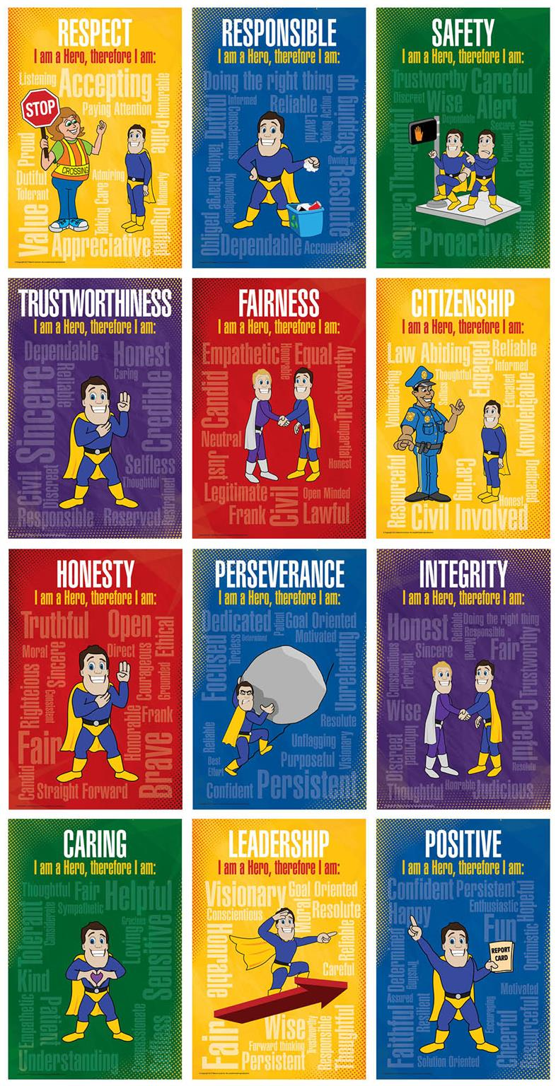 Character Trait Core Value Posters