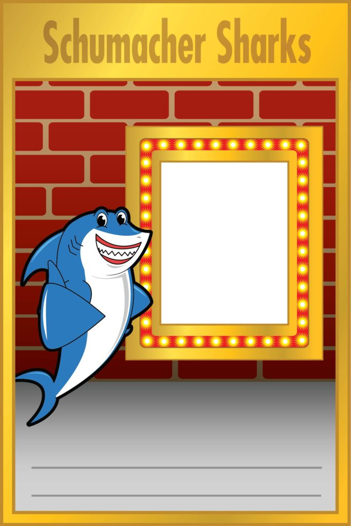 Shark Mascot Poster PBIS