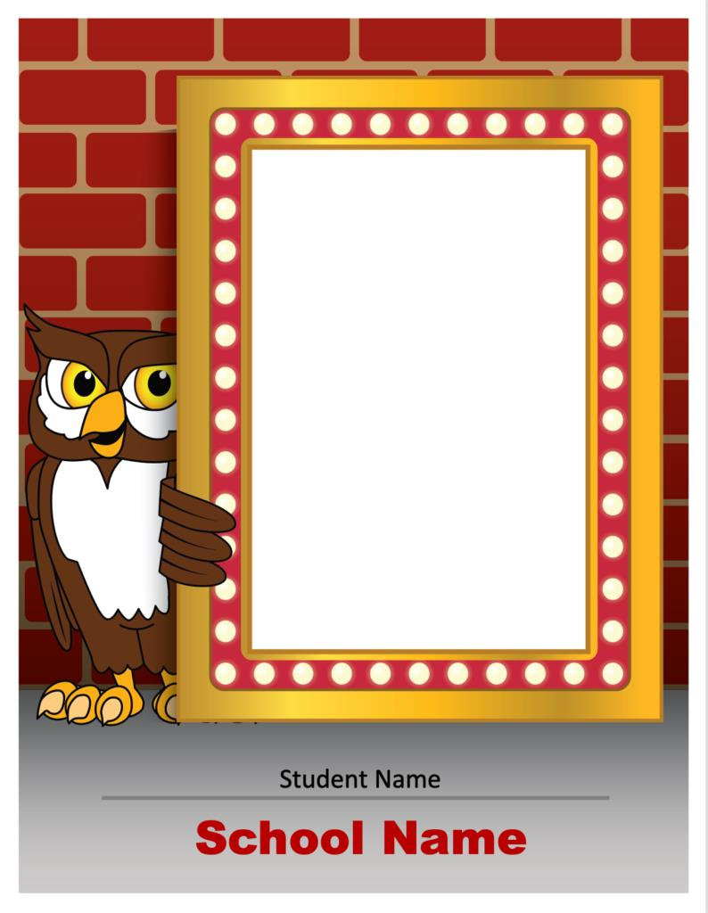 Owl Photo Marquee Template