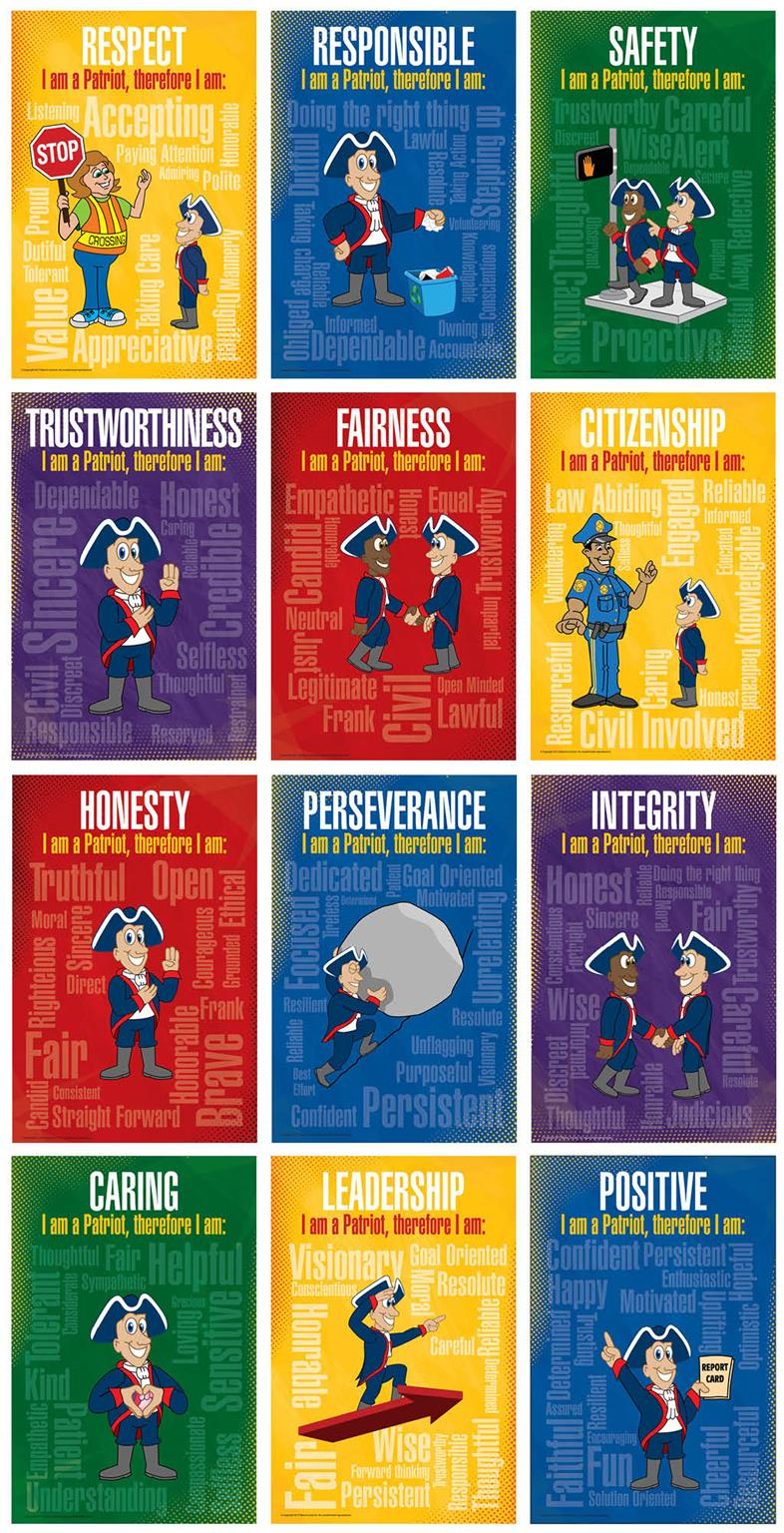 Character Trait Core Values Poster