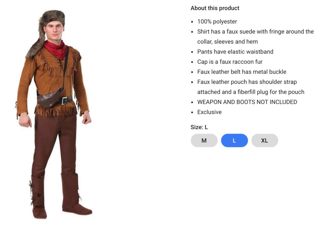 Pioneer Costume