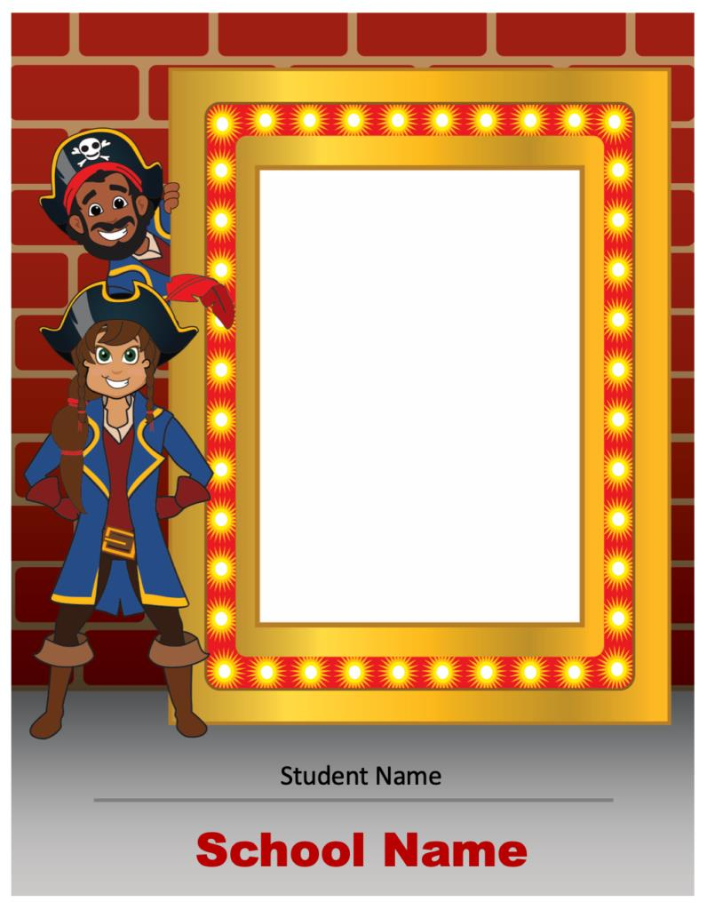 Pirate Photo Marquee Template