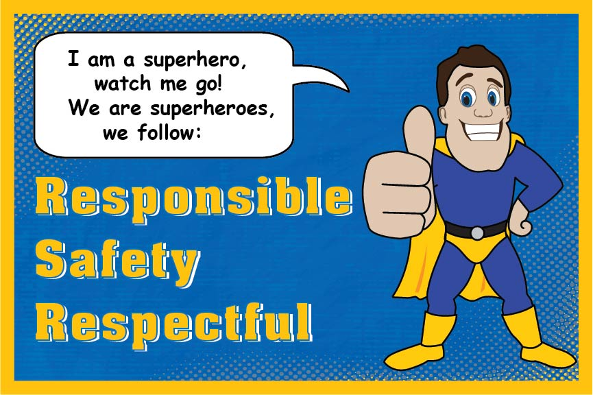 Super Hero PBIS Pledge Poster