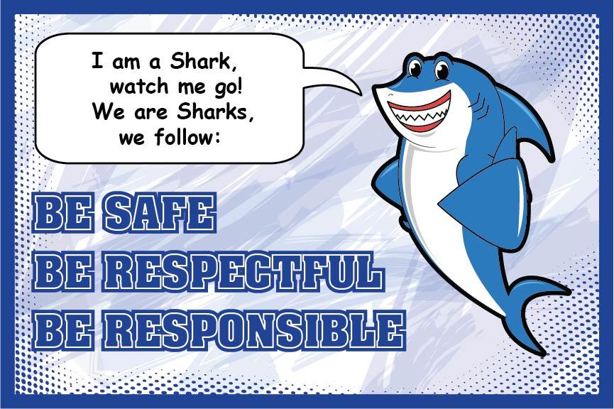 Pledge Poster Shark Mascot