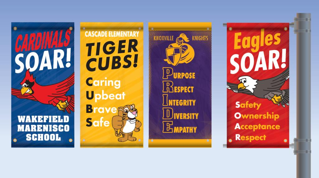 Pole Banners PBIS School Printing