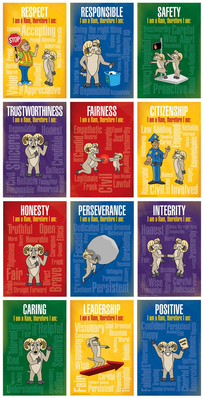 Character Trait Posters Schools