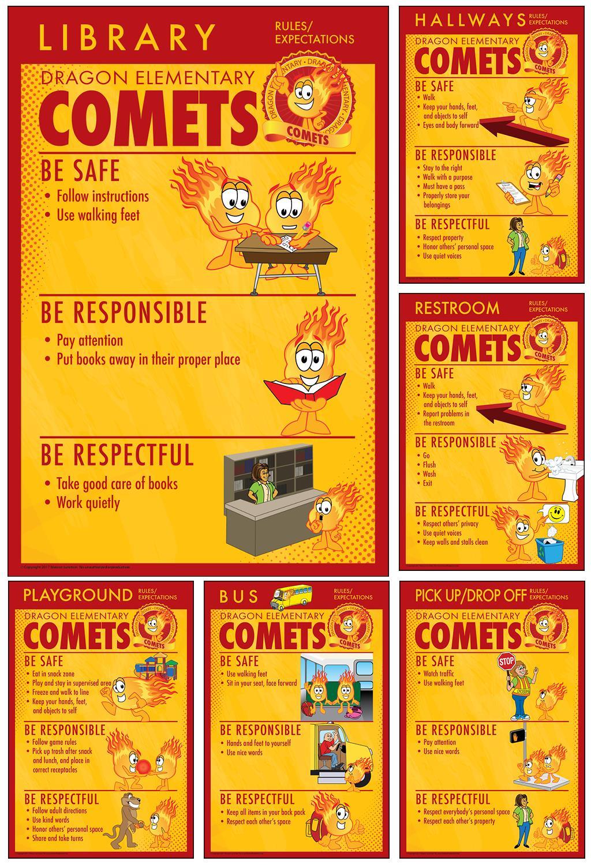 Rule Posters PBIS Bear Cub