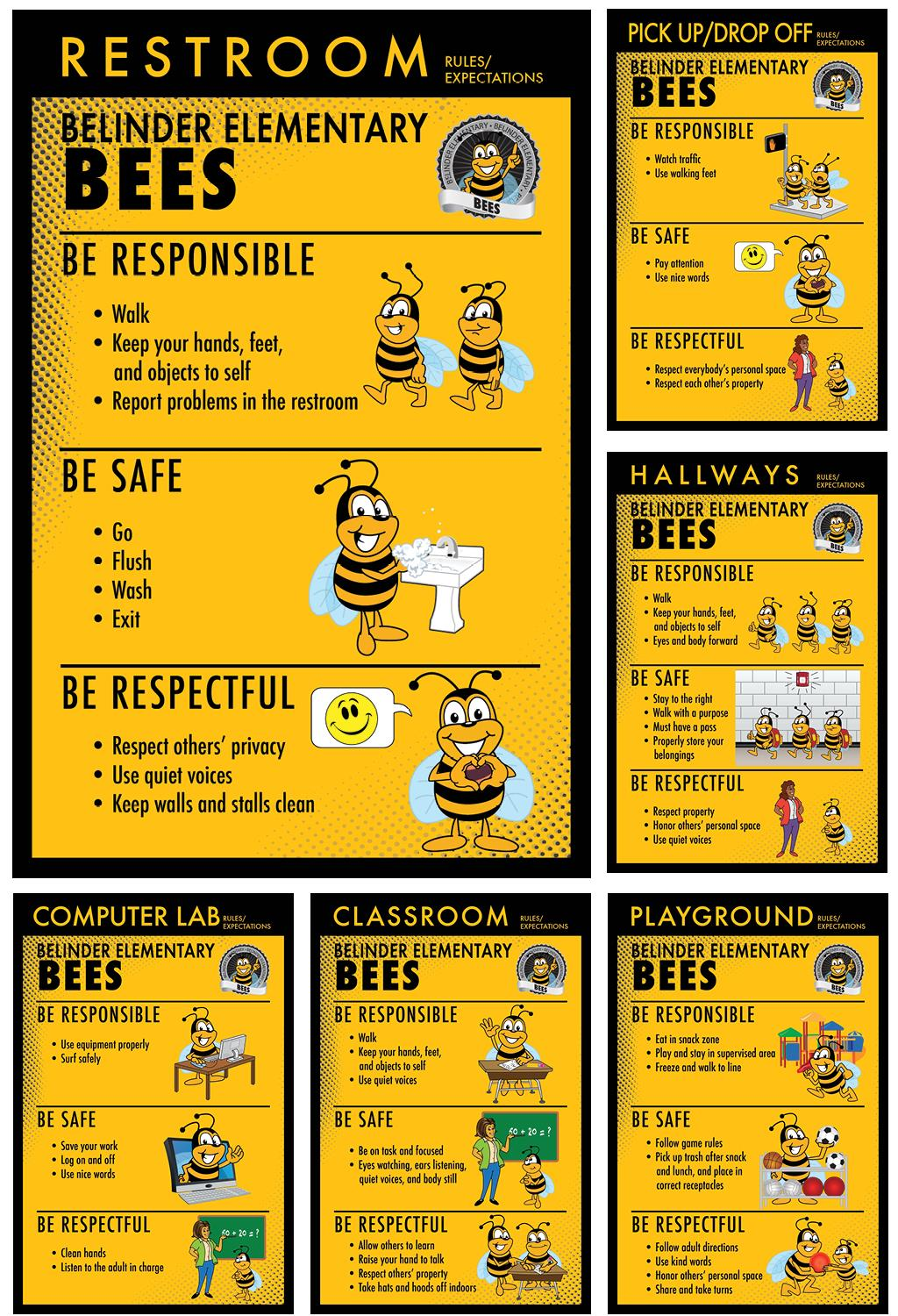 Rules Poster Designs PBIS